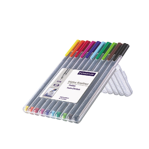 Staedtler Triplus Fineliner 10 Color Pen Set