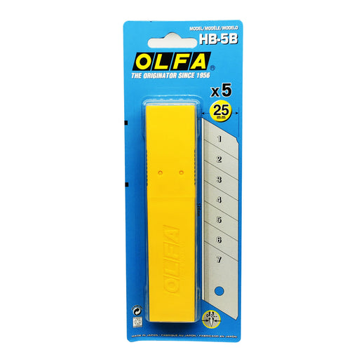 OLFA HB-5B 25mm Snap-Off Silver Blade 5-Pack