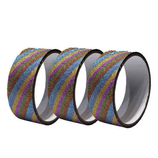 Glitter Tapes -Multicolor Line Pattern