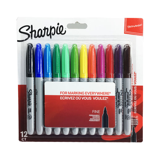 Sharpie 12 Assorted Fine Tip Permanent Markers 2065593