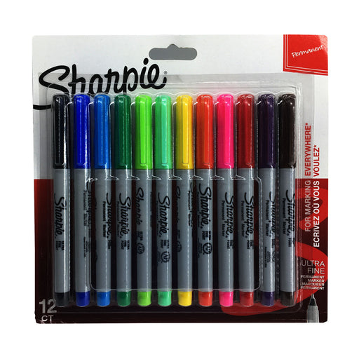 Sharpie 12 Assorted Ultra Fine Tip Permanent Markers 2065597