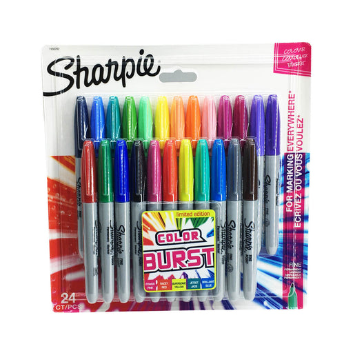 Sharpie 24 Assorted Fine Tip Permanent Markers 1956292
