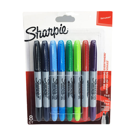 Sharpie 8 Assorted Twin Tip Permanent Markers 2065598