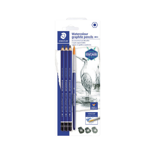 Staedtler Artist Pencils -Pack of 3+1 Brush