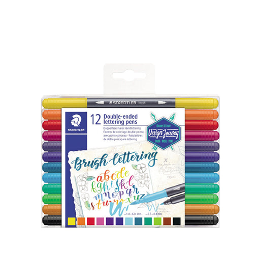 Staedtler Double-ended Lettering Duo Pen -12 Color Set