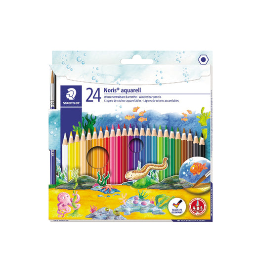 Staedtler Noris Watercolor Pencil -24 Color Set + 1 Brush