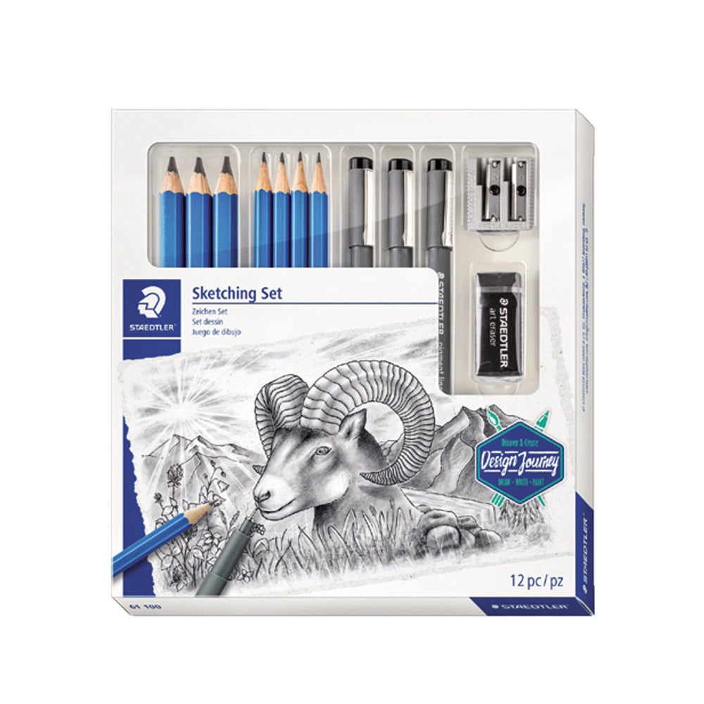 Staedtler Sketching Combo Set of Pencils & Pigment Liners