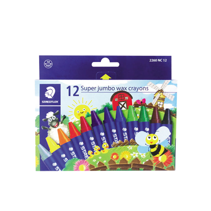 Staedtler Super Jumbo Wax Crayons -12 Colors Set