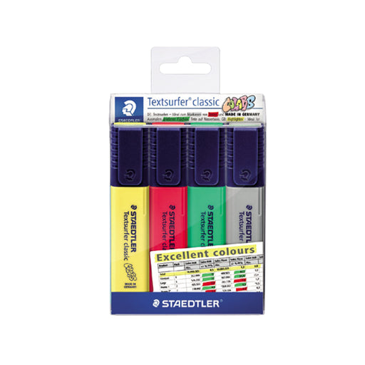 Staedtler Textsurfer Highlighter 4 Excellent Color Set (ST-364-CWP4X)