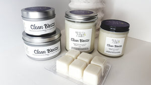 Clean Breeze Scented Natural Soy Candle | Hand-Poured and Hand-Crafted