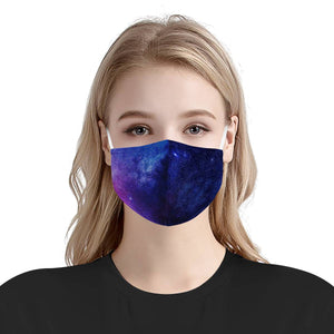 Starry Galaxy Dreams | 100% Soft Pima Cotton Triple Layer Face Mask