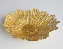 "Load image into Gallery viewer, CORAL 16"" Gold Centerpiece Bowl"