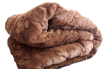 Load image into Gallery viewer, Luxury Solid Cinnamon Mocha Brown Wooded River Faux Fur Throw Blanket