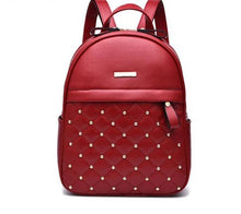 Load image into Gallery viewer, Leather Studded Backpack
