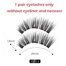 Load image into Gallery viewer, Magnet Reusable Fake Eyelashes with Magnetic Liner