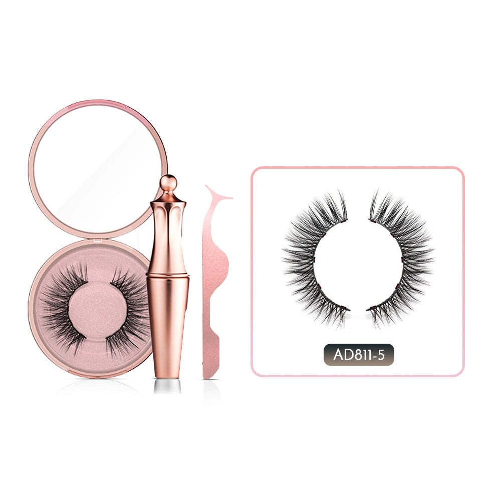 Magnet Reusable Fake Eyelashes with Magnetic Liner