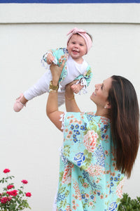 Mommy and Me Matching Floral Chiffon Shawl Kimono Cardigan