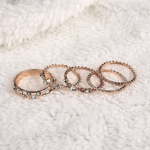 Beach Party Gold Ring Set