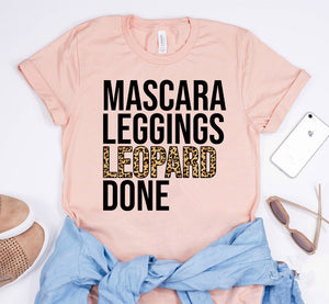 Mascara Leggings Leopard Done T-Shirt