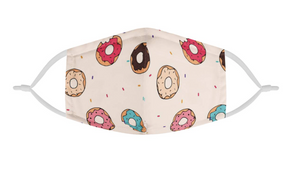 Cute Donut Rainbow Cartoon Graphic | Kids Adorable Fashion Face Mask