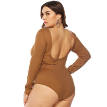 Load image into Gallery viewer, Rib Knit Backless Bodysuit