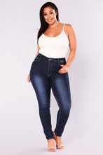 Load image into Gallery viewer, Gradient  High Waist Denim Jeggings