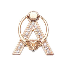 Load image into Gallery viewer, Luxury Rose Gold Diamond Initial Ring Stand