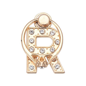 Luxury Rose Gold Diamond Initial Ring Stand