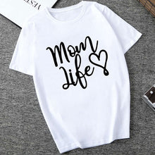 Load image into Gallery viewer, Showtly Mom of Boys Letter T-shirt Women's Clothes 2019 Fashion Funny Saying T Shirts Mom Wife Feminist Slogan  Tee Tops