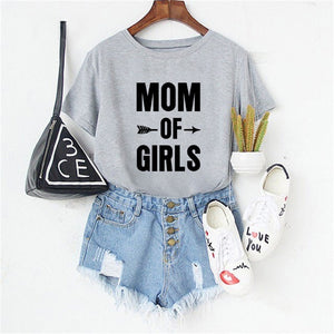 Showtly Mom of Boys Letter T-shirt Women's Clothes 2019 Fashion Funny Saying T Shirts Mom Wife Feminist Slogan  Tee Tops