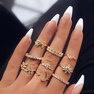 Moon Child Gold Ring Sets