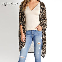 Load image into Gallery viewer, Celmia Summer Beach Leopard Printed Kimono Cardigan Women Cover Up Long Tops Blouse Loose Shirt Blusas Mujer Plus Size S-5XL