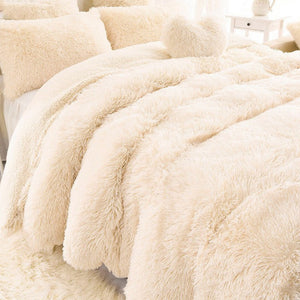 Luxury Shaggy Throw Blanket/Pillow Case