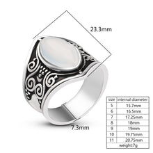 Load image into Gallery viewer, Vintage Silver Stone Ring