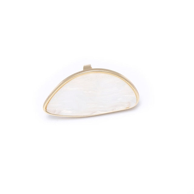 Oval Marbled Adjustable Ring