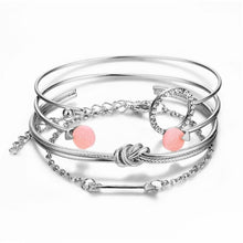 Load image into Gallery viewer, Infinity Tie Knot  and Arrow Bangle Set