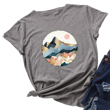 Load image into Gallery viewer, Golden Mountain Peak  T-shirt