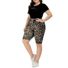 Load image into Gallery viewer, Leopard Print Biker Shorts