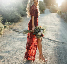 Load image into Gallery viewer, Wild One Elegant Long Lace Dress