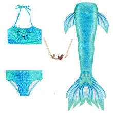 Load image into Gallery viewer, Kids Mermaid Bathing Suit With Accessories
