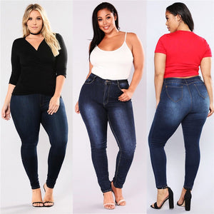 Gradient  High Waist Denim Jeggings
