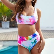 Load image into Gallery viewer, Tie-Dye For High Waist Bikini