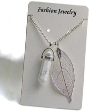 Load image into Gallery viewer, Quartz Point Pendant Necklace