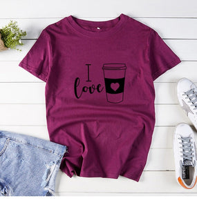 I Love Coffee  T Shirt