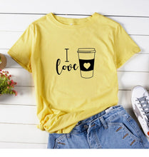 Load image into Gallery viewer, I Love Coffee  T Shirt