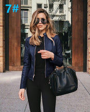 Load image into Gallery viewer, NEDEINS Autumn Jacket Women Coat Jacket PU Leather Outwear Fashion Short Coat Thin Female Jacket Coat 2020