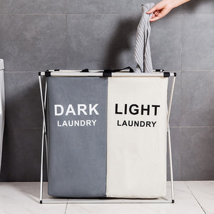Laundry Organizer Bag Dirty Laundry Hamper Collapsible Home Laundry Basket Three Grid Water Proof Storage Bag Laundry Sorter