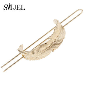 Hair Sticks Feather Bun Cuff Leaf HairPin Women Unique Wedding Hair Accessories for Girls Boho Tassel Hair Pins  Femme Jewelry