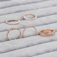 Load image into Gallery viewer, Beach Party Gold Ring Set