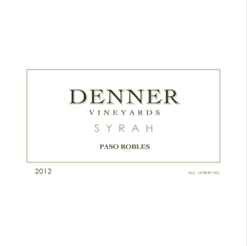 Denner Vineyards, 2013 Syrah, Paso Robles